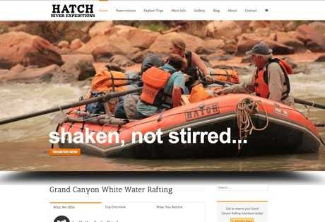 hatch river expeditions web design screenshot